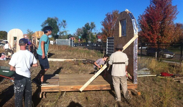 Police in Denver Colorado Bust Activists Building Tiny Homes for Homeless
