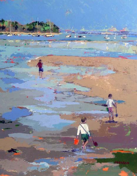 Tableau Claire Fresson : A la pêche