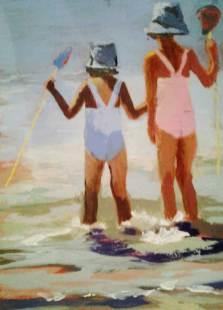Tableau Claire Fresson : Les deux soeurs