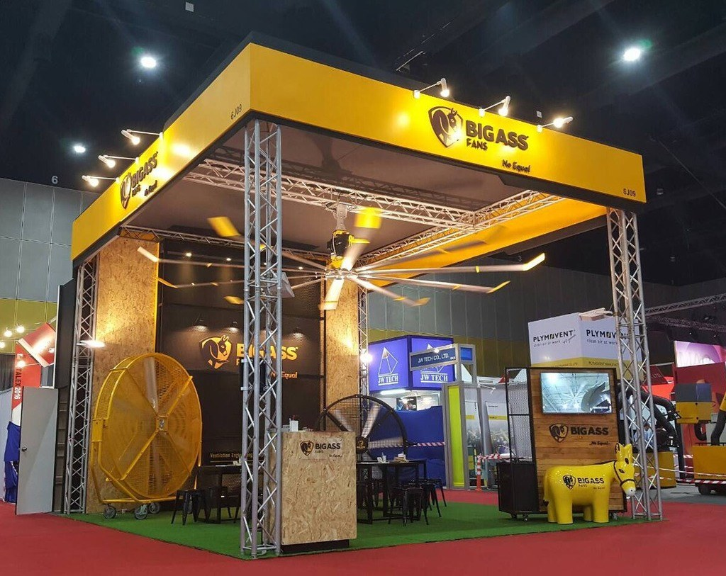 Exhibition Stand Builders Bangkok : Local stand builder at metalex fret free productions