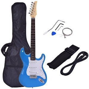 COSTZON GUITARS 39 FULL SIZE ELECTRIC GUITAR, WITH CASE AND ACCESSORIES PACK FOR BEGINNER