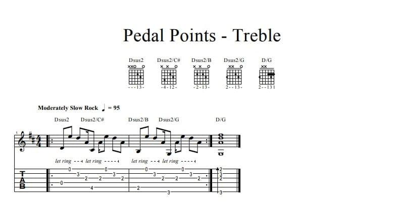 Pedal Points - Treble