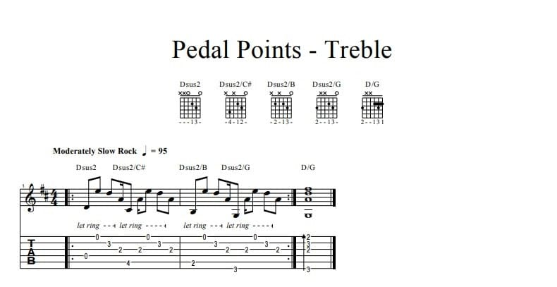 Pedal Points - Treble