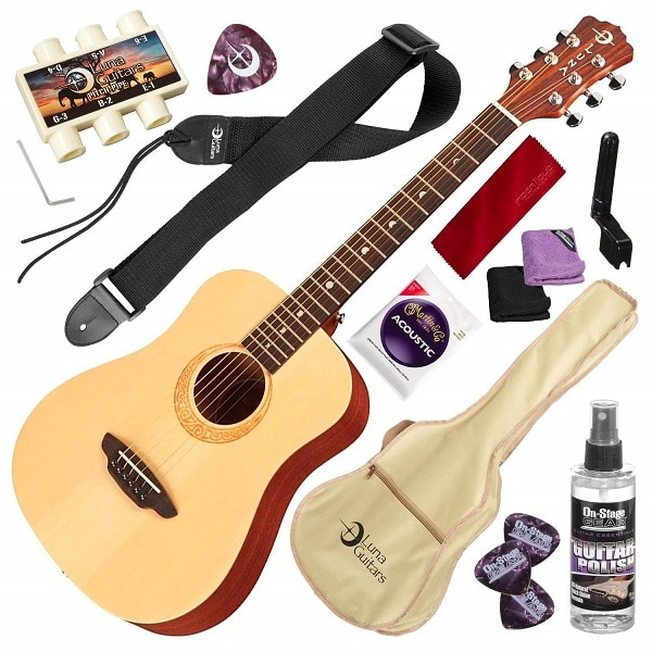 Luna Safari Series Muse Spruce Travel Acoustic Guitar