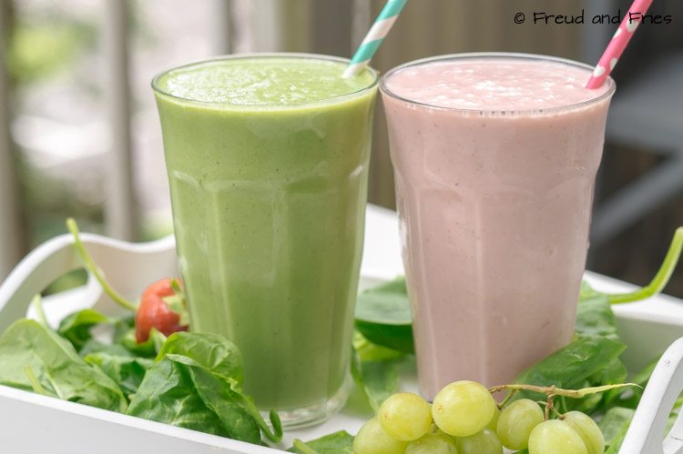 Pink & green ontbijt shakes | Freud and Fries