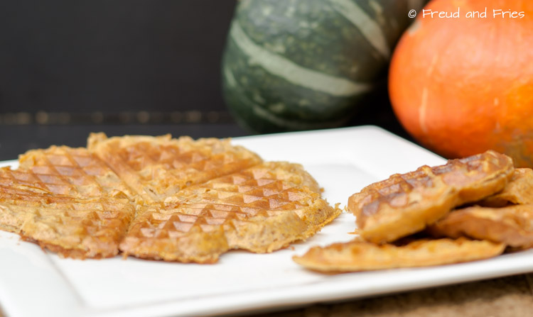 Spooky pumpkin pie protein wafels | Freud and Fries