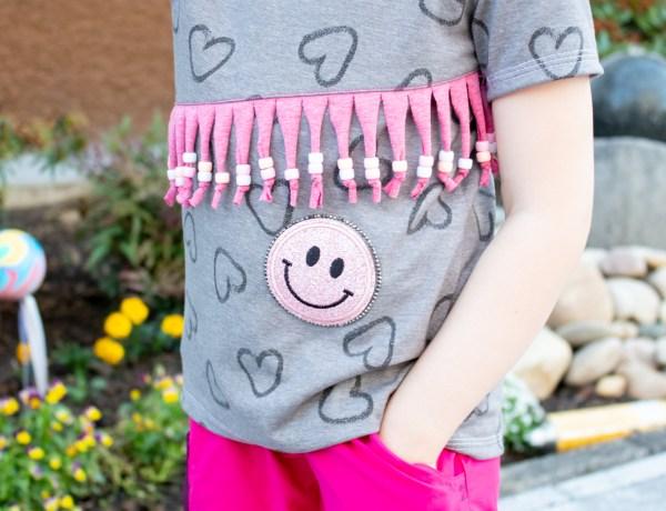 Nähwünsche Basicshirt mit Herzen, Perlen und Glitzer