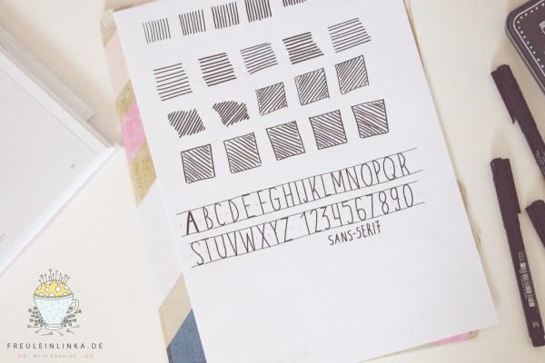DIY Handlettering lernen Aufwärmübung freuleinlinka.de