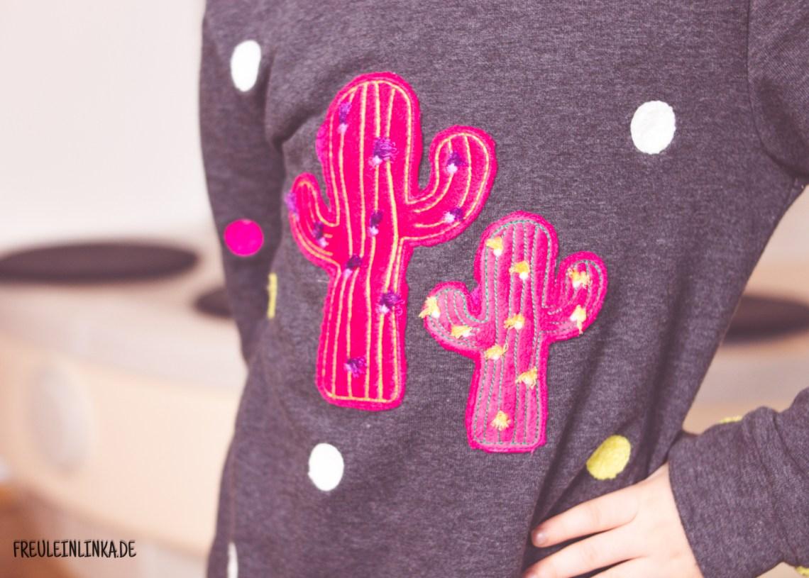 Sweater Bente mit gesticktem Kaktus von Freulein Linka