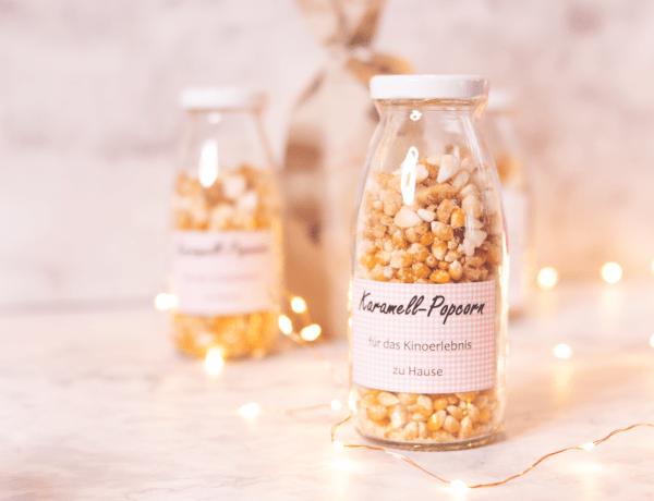 DIY Karamell-Popcorn im Glas