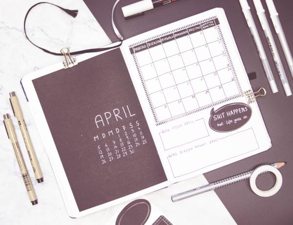 Bullet Journal April