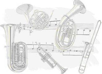 Auswahl an Blechblasinstrumenten