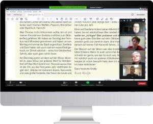 So geht Deutschkurs heute: Textbesprechung per Zoom!