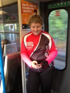 September. En route to cycle 52 miles at London Bikeathon. My first starting-chemotherapy anniversary chemotherapy
