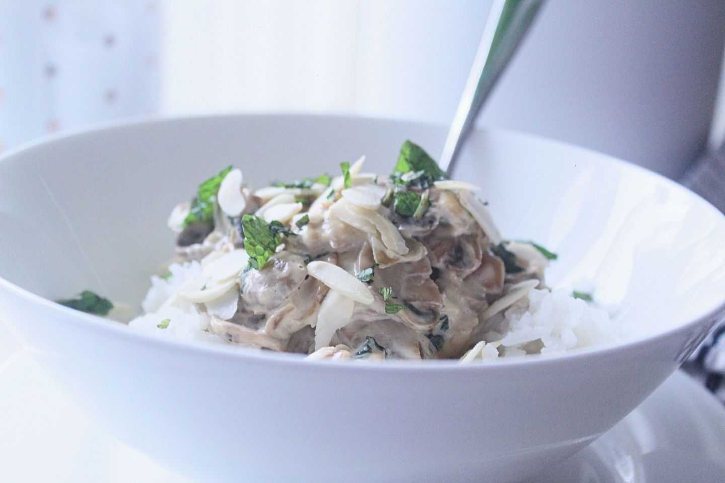 Recipe: Vegetarian Creamed Mushrooms with Almonds | FOOD | FREYA WILCOX