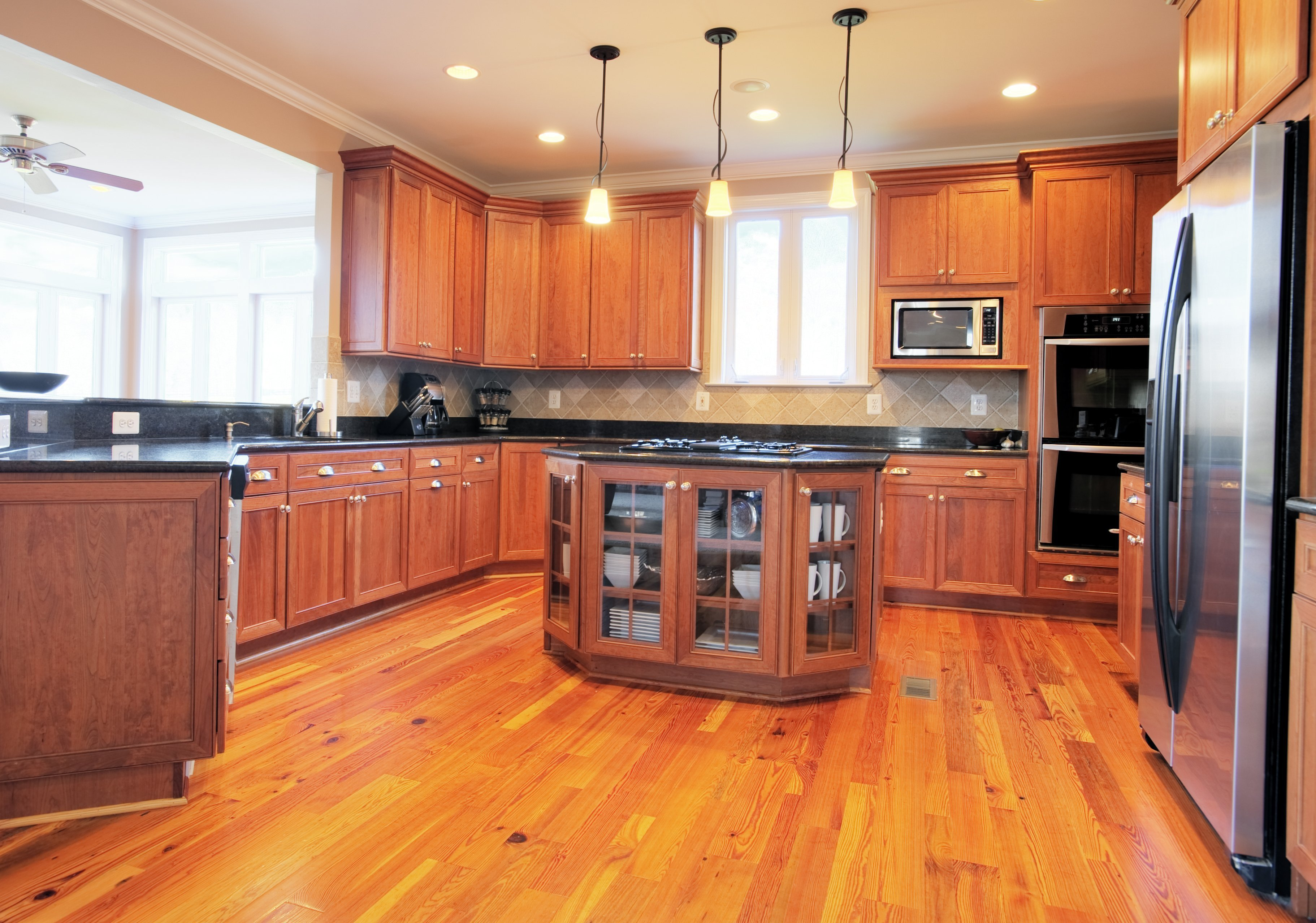replace kitchen floor without removing