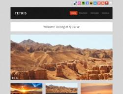 Tetris Free Masonry Tumblog WordPress Theme