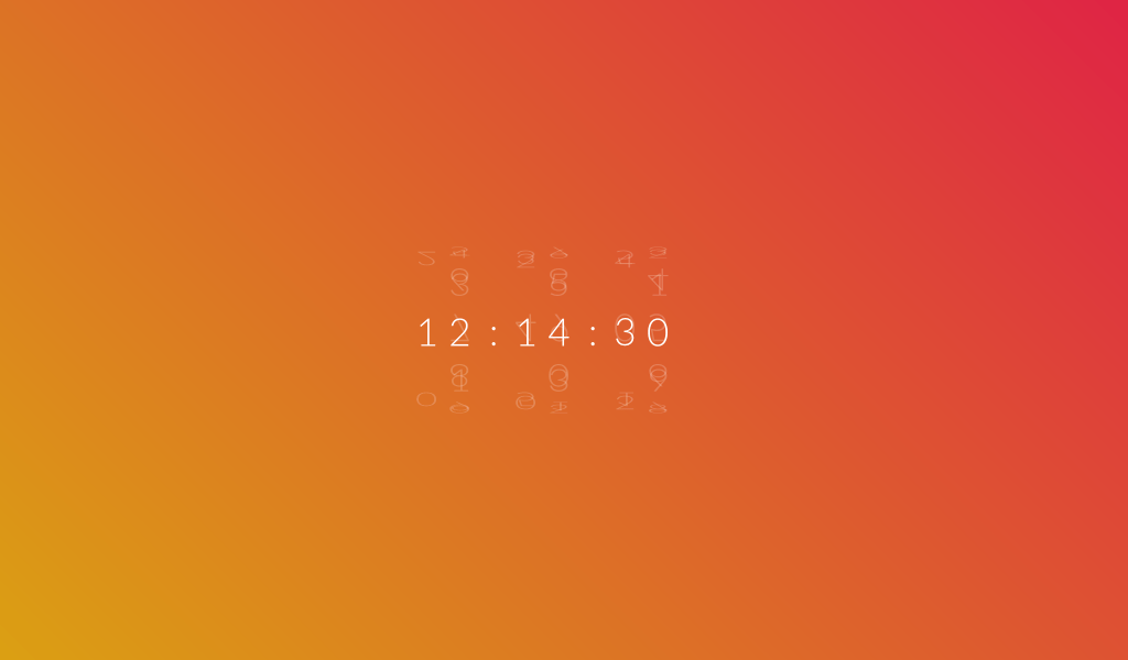 Pure CSS3 Rotating Clock - - Fribly