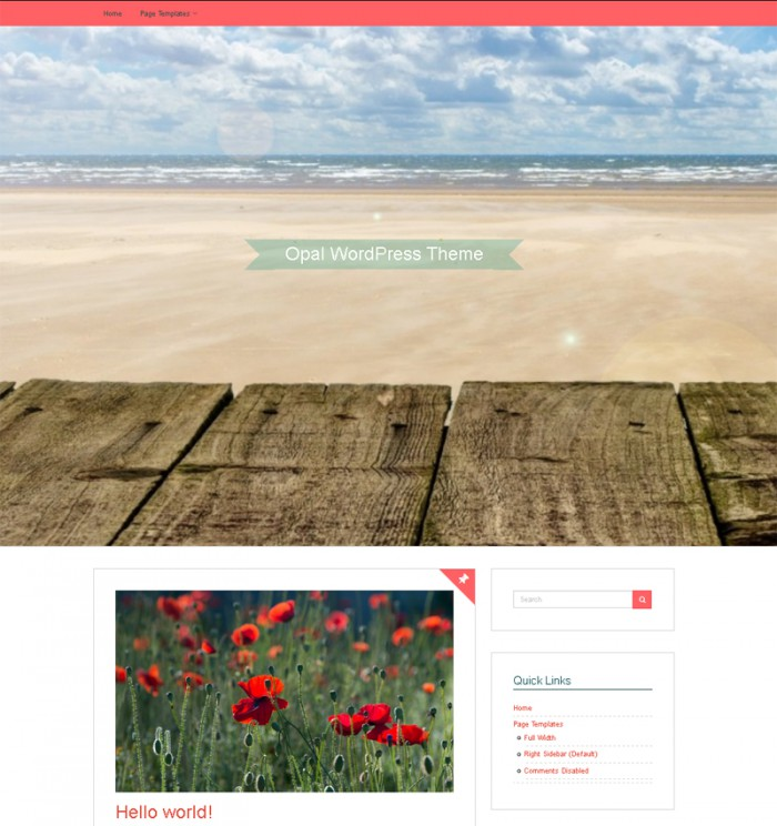 Opal Free WordPress Theme