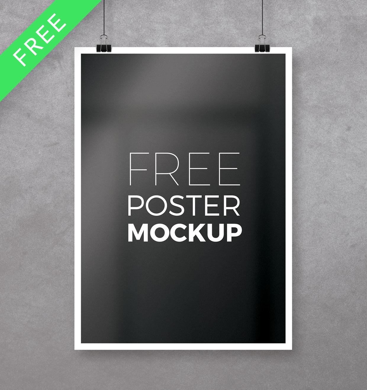 Free A4 Poster Mockup Freebies Fribly