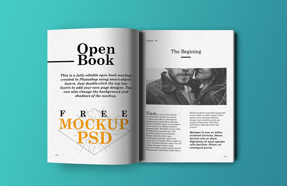 open book free mockup freebies fribly