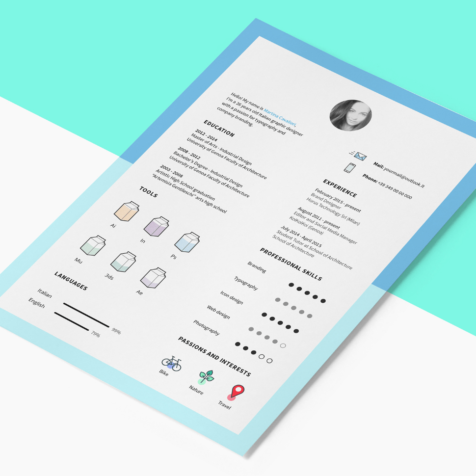 free resume template with cv icons - freebies  icons