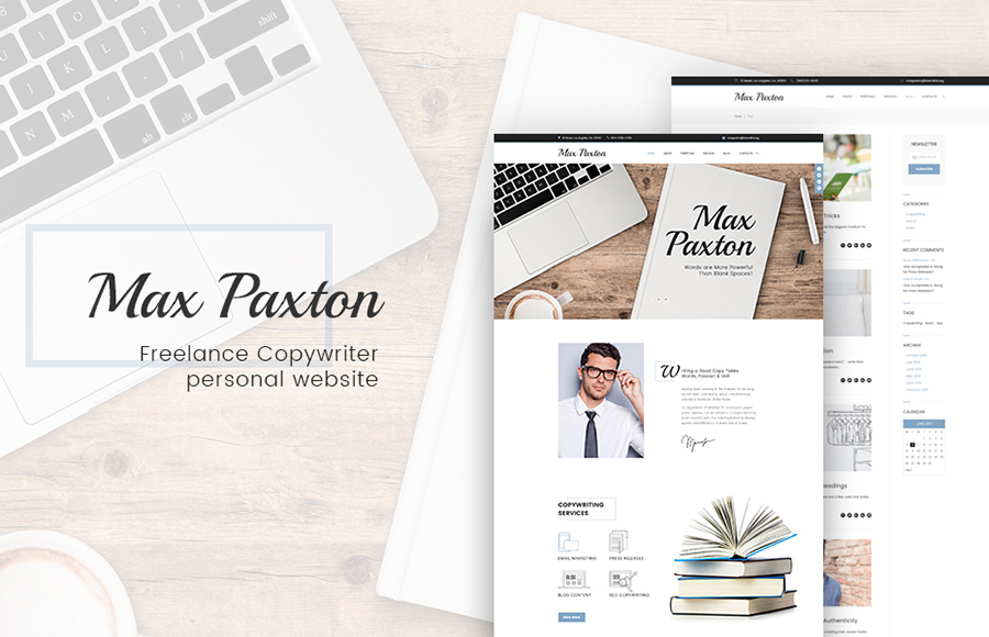Personal Profile Page WordPress Theme