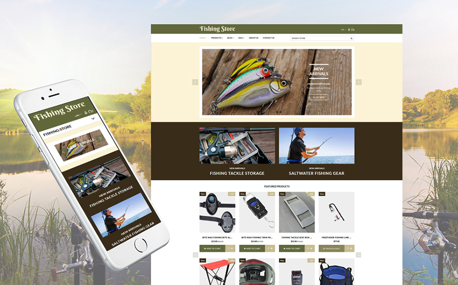 Fishing Supplies & Equipment Shopify Template