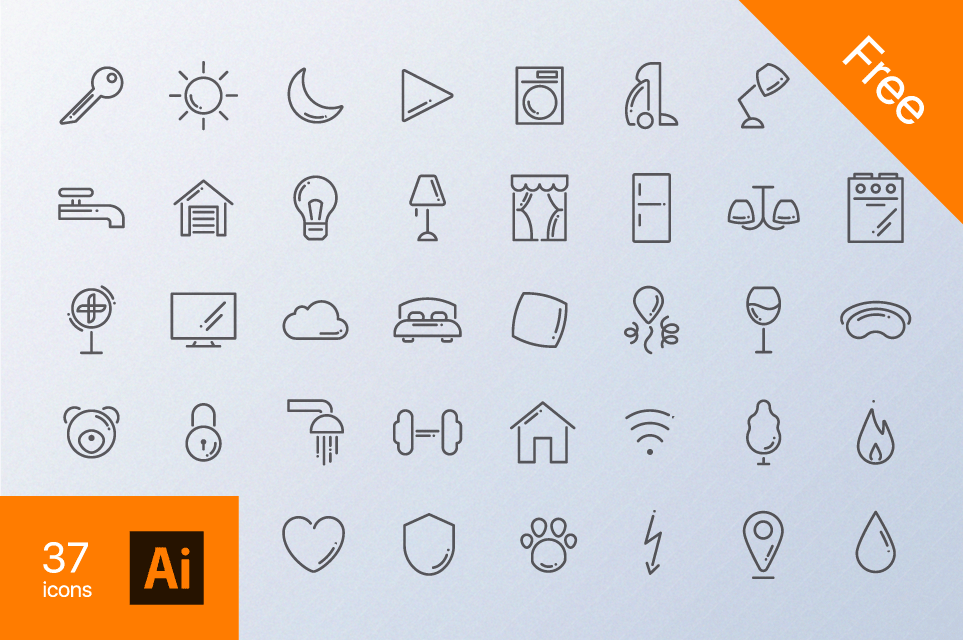 Home Routine Free Icon Set - Icons - Fribly