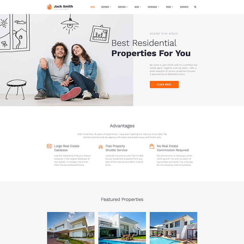 Jack Smith HTML Template