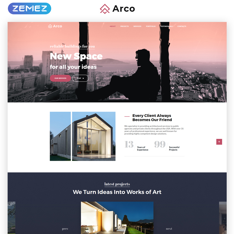 Architect Landing Page HTML Template