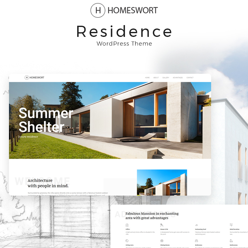 Homeswort - Luxury Real Estate Elementor WordPress Theme