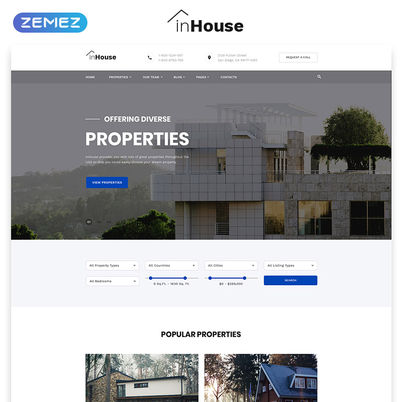 Real Estate Multipage HTML5 template