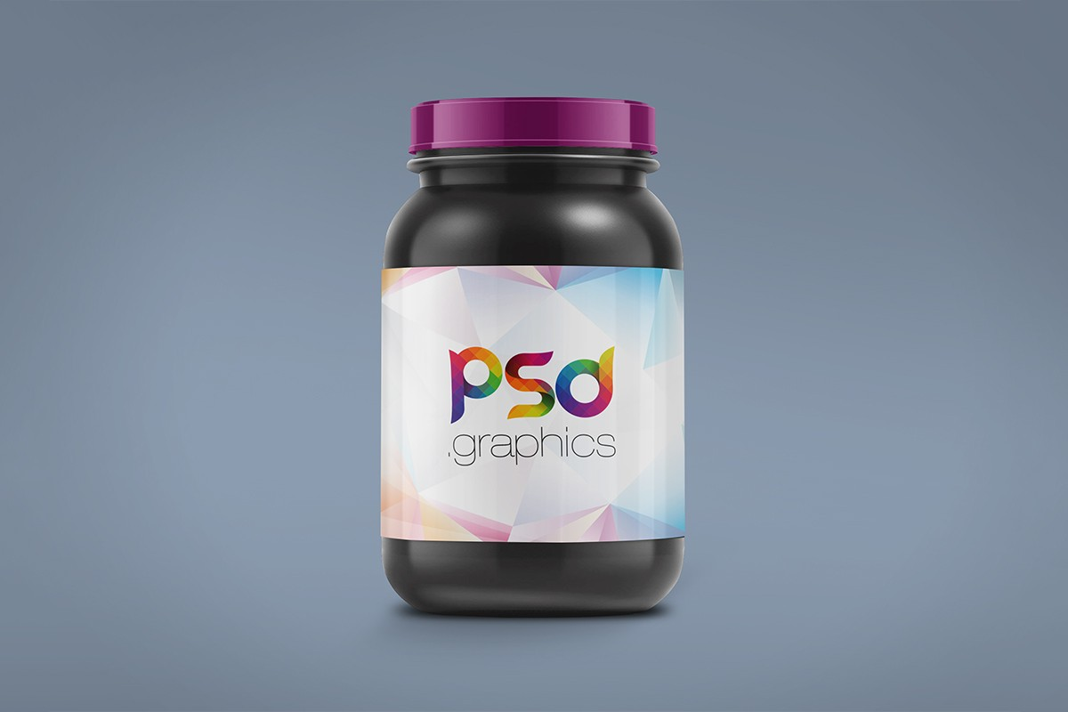 Download Free Plastic Jar Mockup - Packaging Mockup - Freebies - Fribly