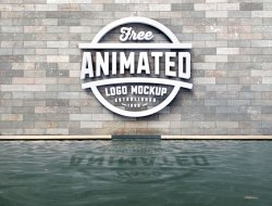Free 3D Logo Animated Mockup