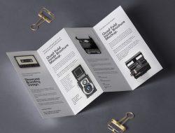 Free 4 Fold Panel Brochure Mockup