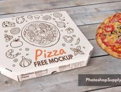 Free Pizza Box Mockup