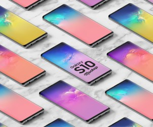 Isometric Galaxy S10 Mockup