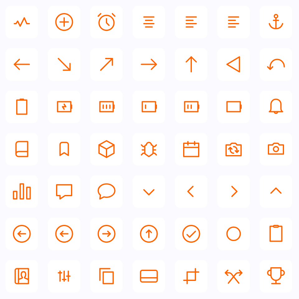 Customizable & Accessible Vector Icons