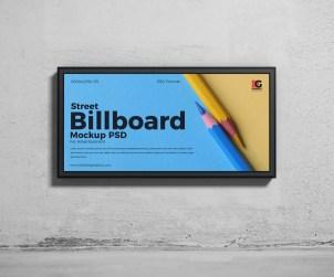 Free Street Billboard Mockup