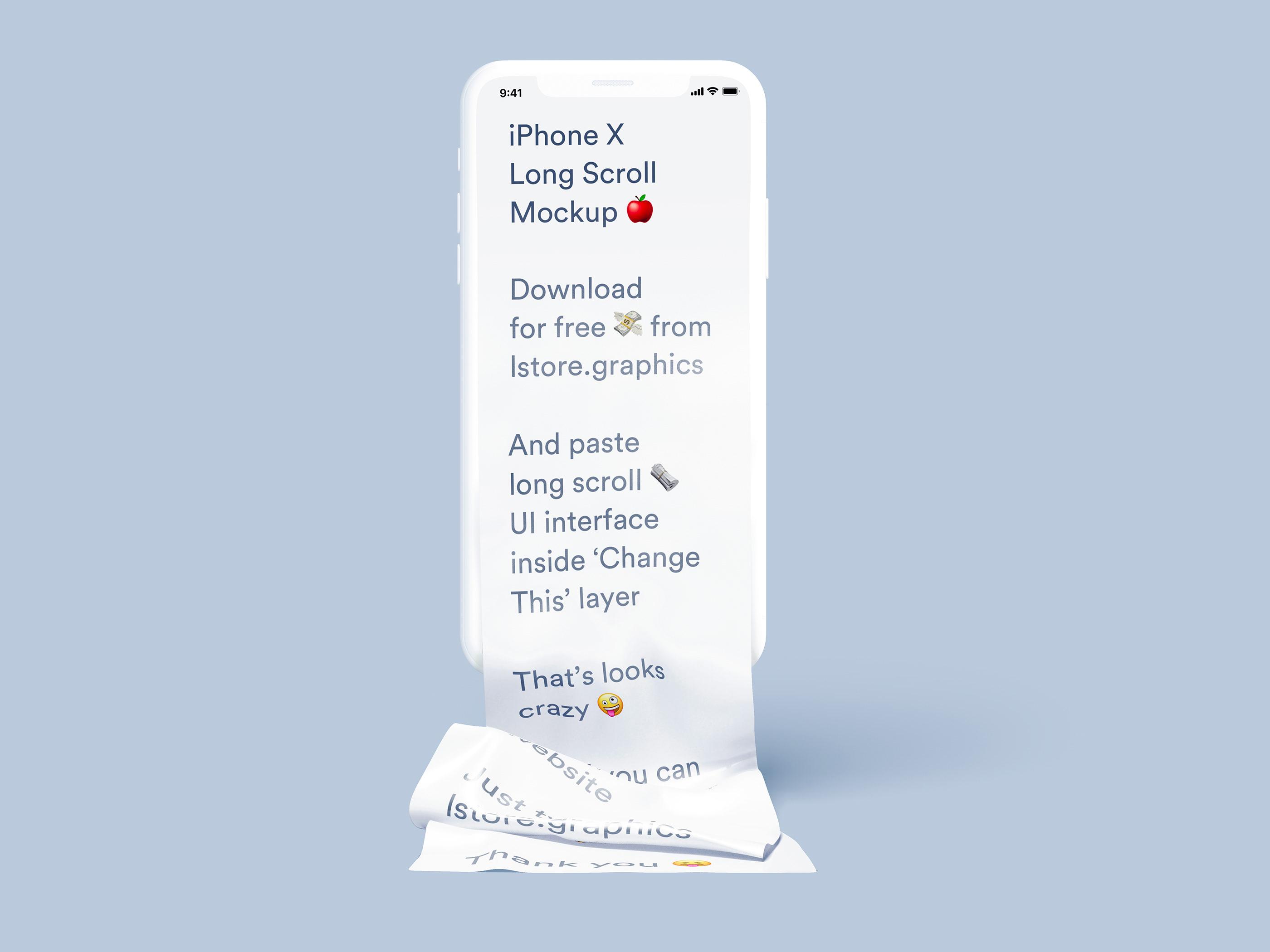 iPhone Long Scroll Mockup