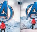 Create Avengers Endgame Photo Manipulation