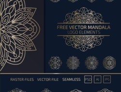 Free Vector Mandala Elements