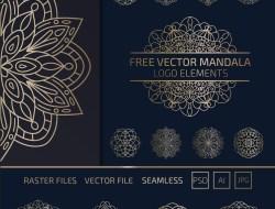 Free Vector Mandala Elements