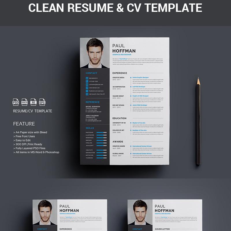 Resume/CV-Paul Hoffman Resume Template