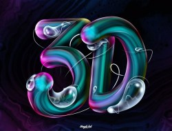 Create 3D Text Photoshop