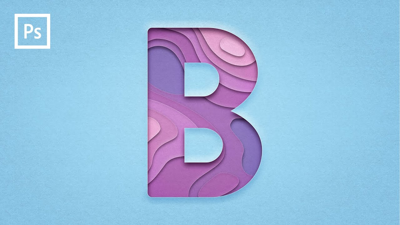 Layered Paper Text Effect