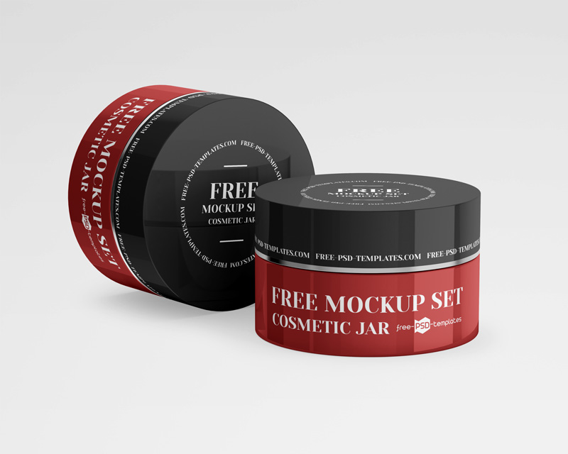 Free Cosmetic Jars Mockup