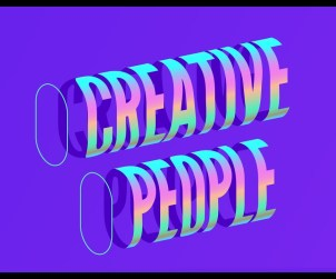 Cylindrical Gradient Text Effect