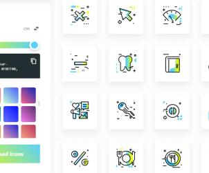 Free Gradient SVG Icons